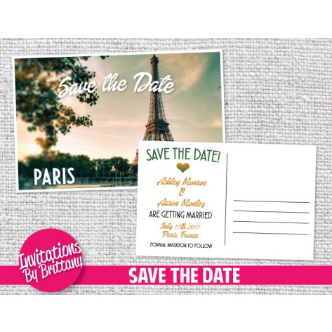 and, engagement, france, invitation, party