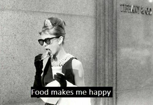 audrey hepburn, food, funny pics, funny quotes, happy