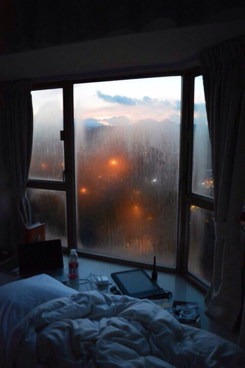 apartment, autumn, bed, chilly, city