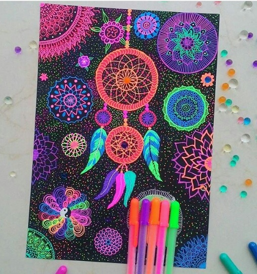 art, colors, creativity, doodle, draw