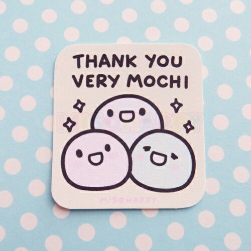 mochi, puns, thank you, playonwords