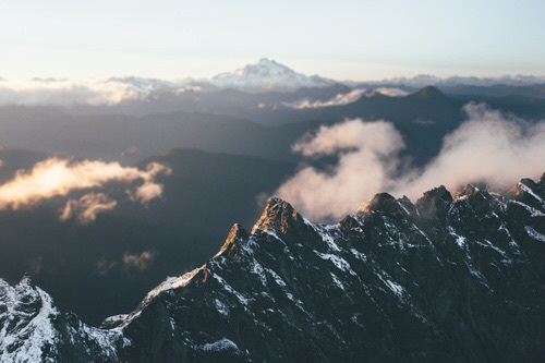 beauty, clouds, dew, mountain, nature