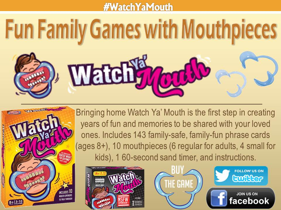 Watch Ya Mouth Game, Watch Your Mouth Game, Mouth Guard Game and Watch Ya Mouth