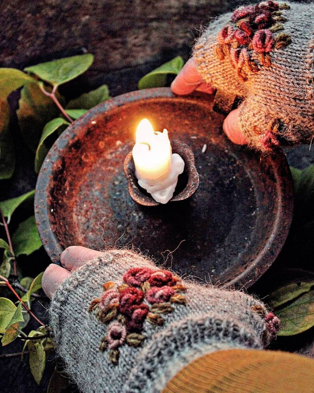 autumn, bright, candle, cold, colourful