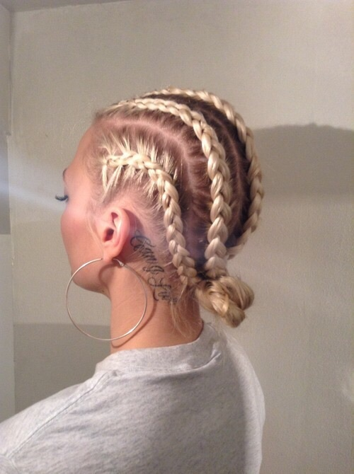 aesthetic, beige, blonde, braids, brown