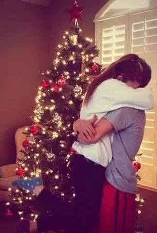 boy, boyfriend, christmas, christmas tree, couple