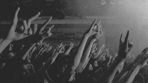 aesthetic, alternative, beautiful, black and white, concert