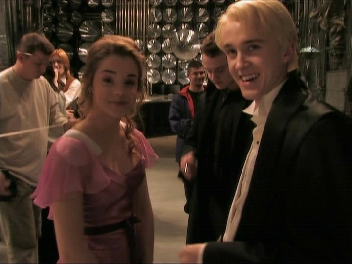 behind the scenes, crush, cute, dramione, drarry