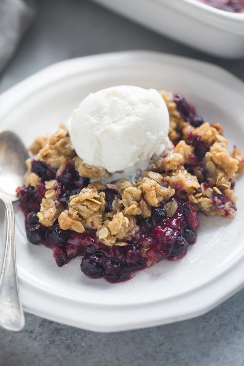 blueberry, cooking, crumble, desert, foodporn