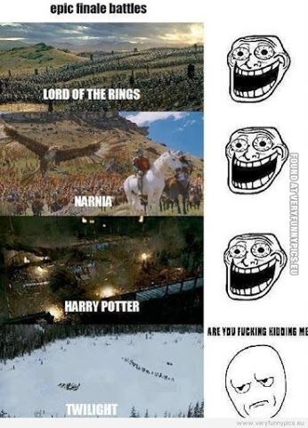 fandom, harry potter, lord of the rings, narnia, twilight