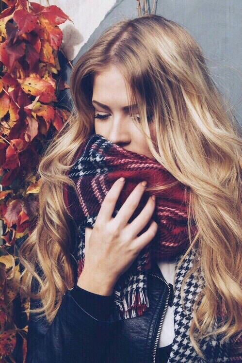 autumn, blonde, cold, coldness, cosy