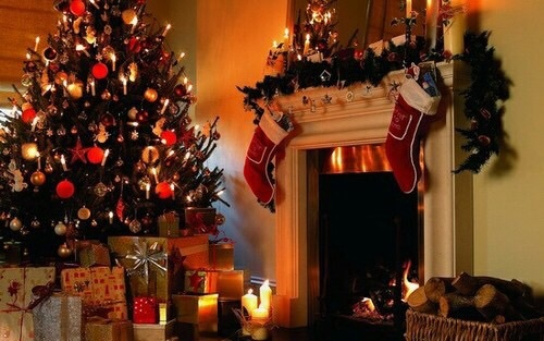 blanket, candle, christmas, coffee, cold