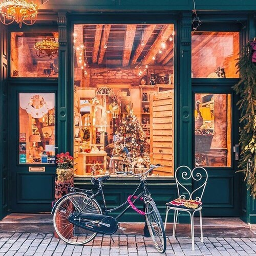 bicycle, bike, chair, christmas, cozy