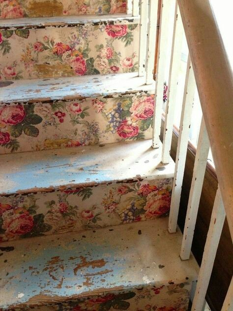 cute, flowers, home, lovely, stairs