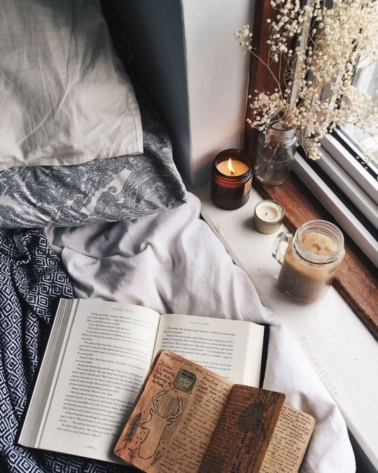 art, beautiful, bed, book, books