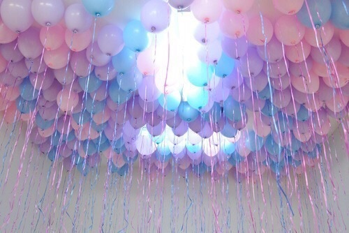 aesthetic, balloons, blue, celebrate, fun