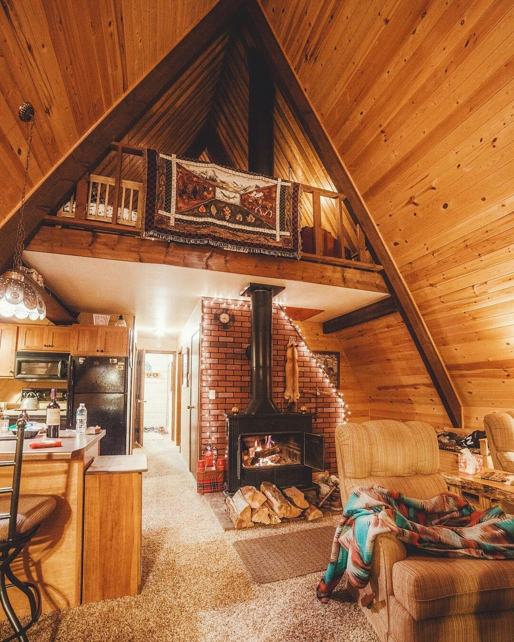 cabin, fire, furniture, home decorations, house
