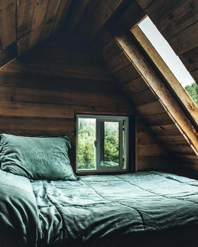 bed, cold day, nature, silence, window
