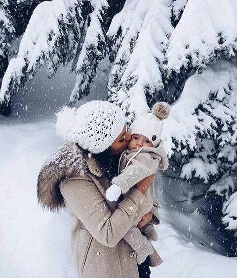 christmas, cold, couple, daughter, family