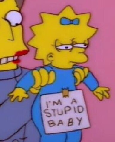 baby, bart, blue, bow, cartoon