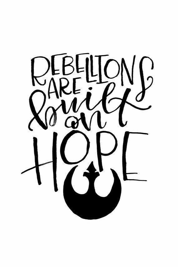 hope, quote, star wars, the resistance, rogue one
