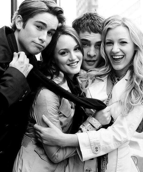 black and white, blair waldorf, blake lively, chace crawford, chuck bass
