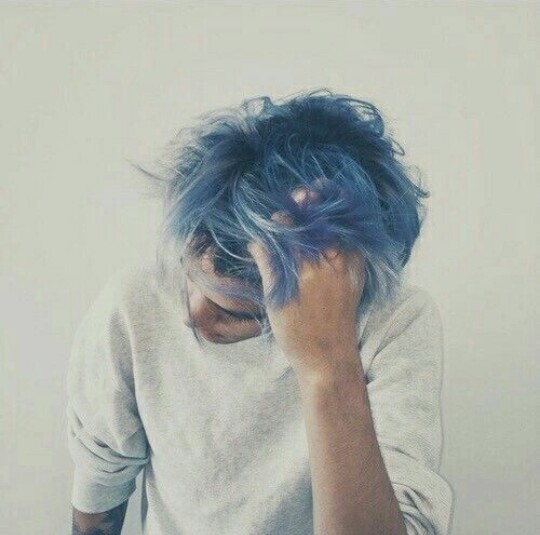 aesthetic, beautiful, blue, blue hair, boy