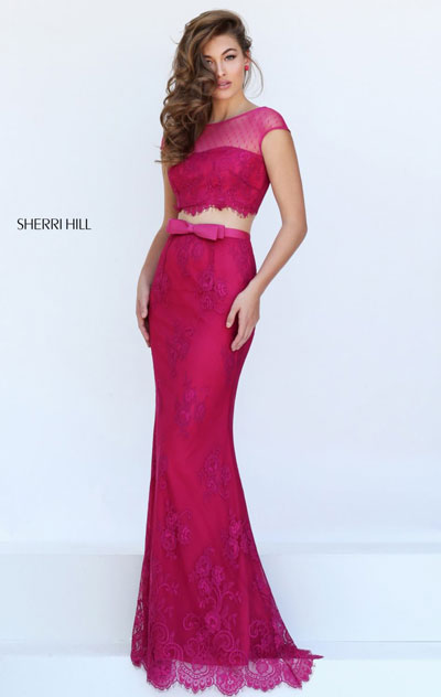 lace long prom dress and 2016 two piece dress