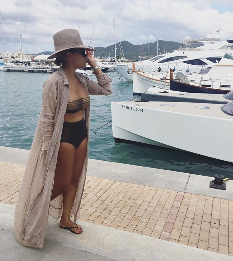 bikini, dior, hat, holiday, outfit