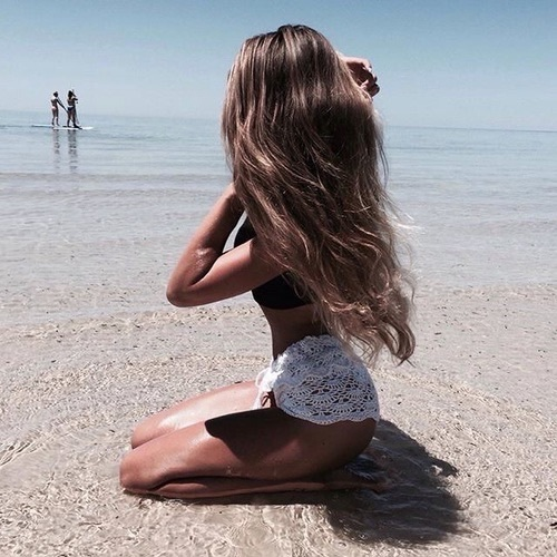 beach, beautiful girl, beauty, blonde, brushes