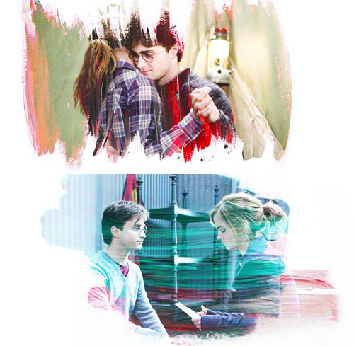 daniel radcliffe, emma watson, harry potter and hermione granger