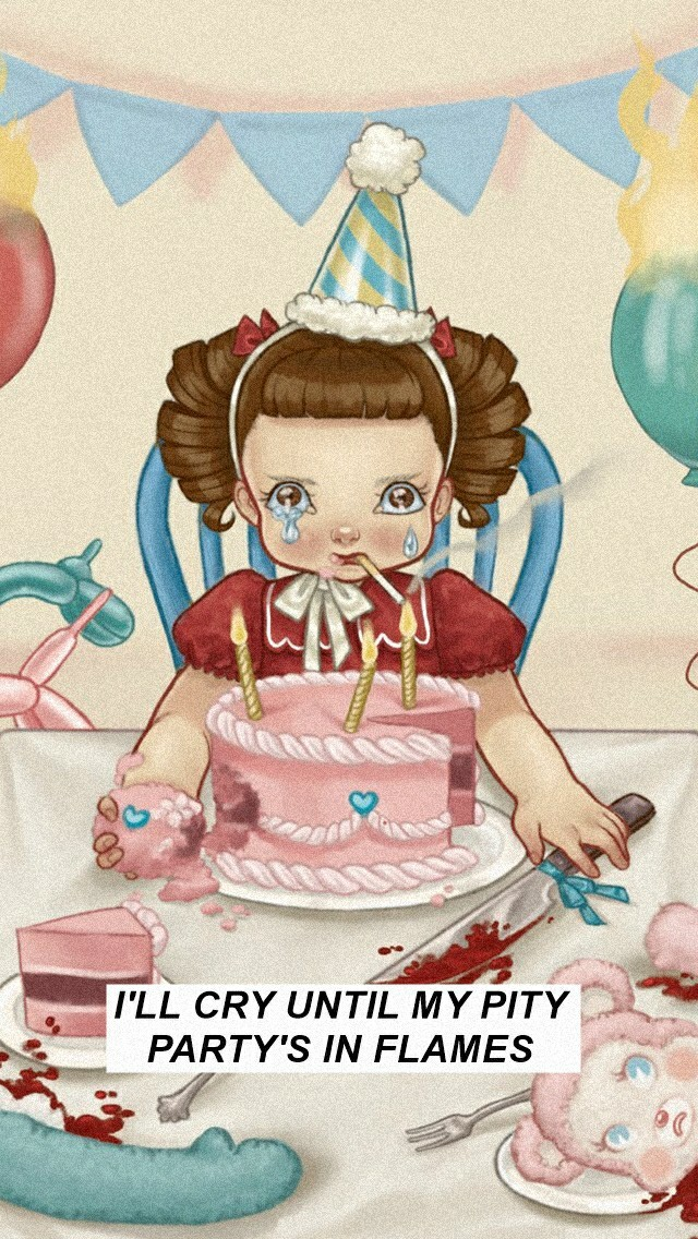 cry baby, melanie martinez, song, wallpaper, pity party