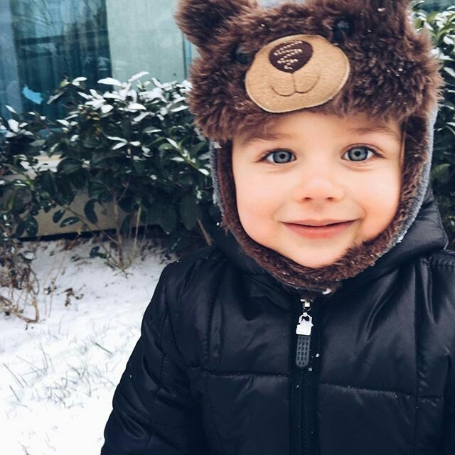 baby, bear, blue eyes, cold, couple