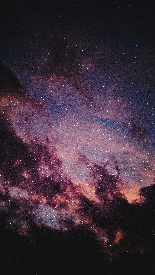 background, black, dark, galaxy, orange