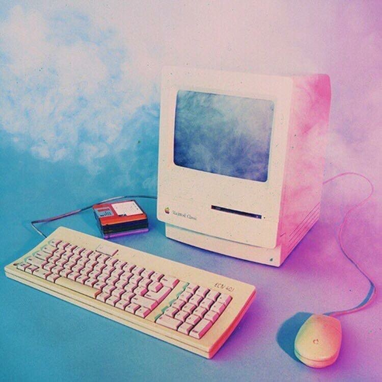 aesthetic, blue, colours, computer, pink