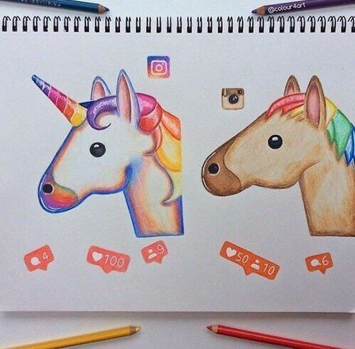 horse, instagram, likes, new and old, unicorn