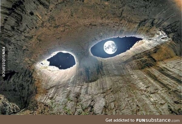awesome, bulgaria, cave, eyes, funny
