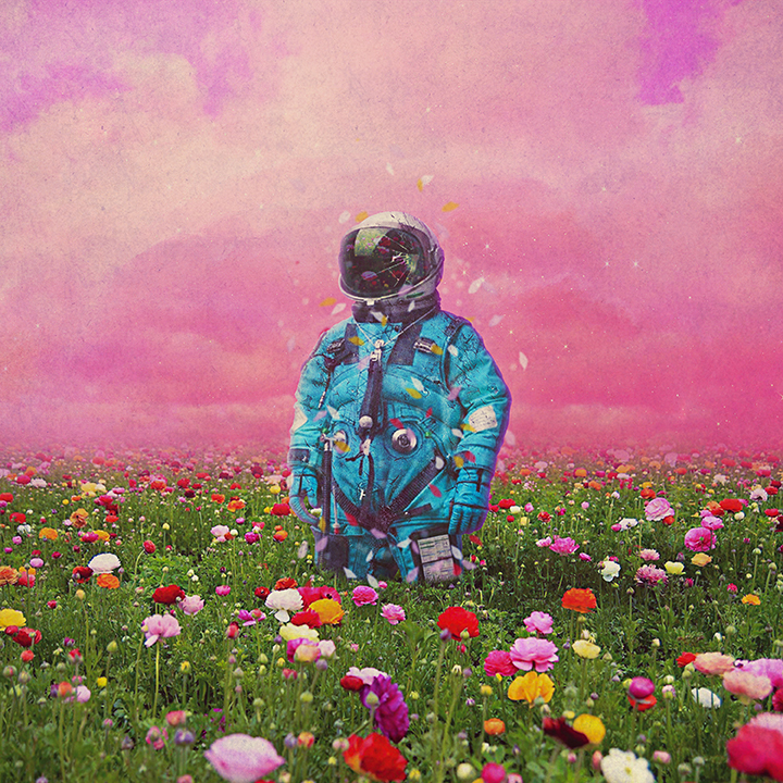 art, astronaut, flower, spaceman, tumblr
