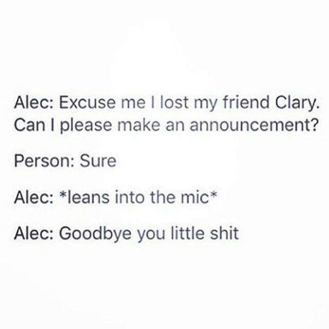 clary fray, funny, shadowhunters and magnus bane