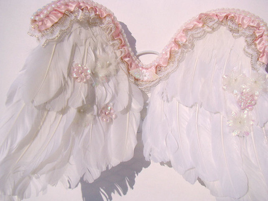 angel wings, girly, pastel, pink, soft