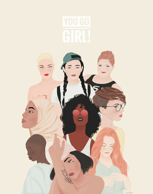 draw, drawing, feminism, feminist, girl power