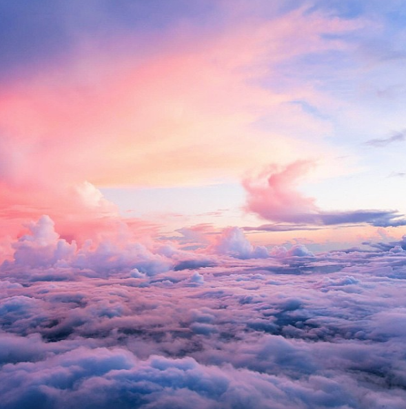 airplane, clouds, land, nature, outside