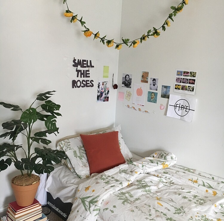 aesthetic, art, artsy, bedroom, flowers