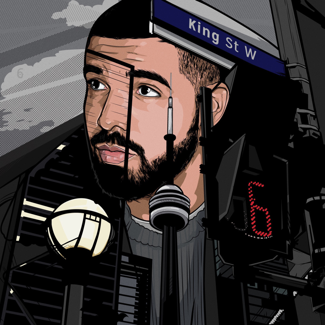 art, canada, drake, draw, drawing