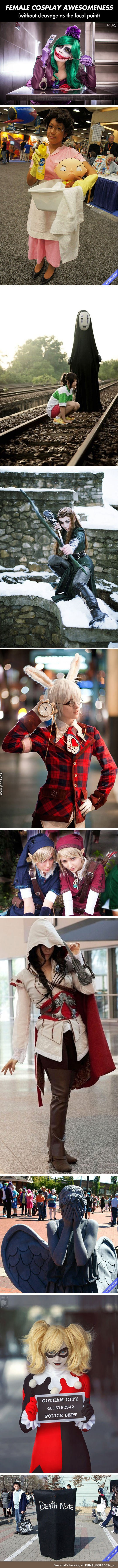 awesome, cleavage, cosplay, funny, humor