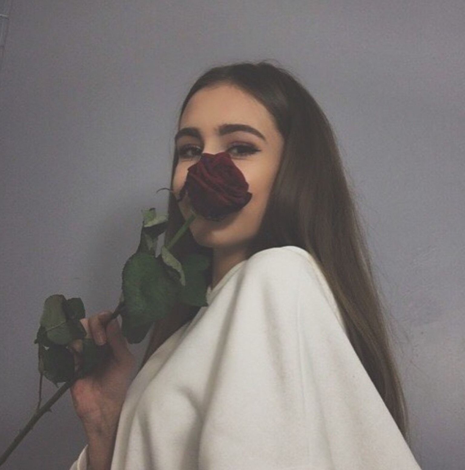flower, girl, hipster, rose, tumblr girl