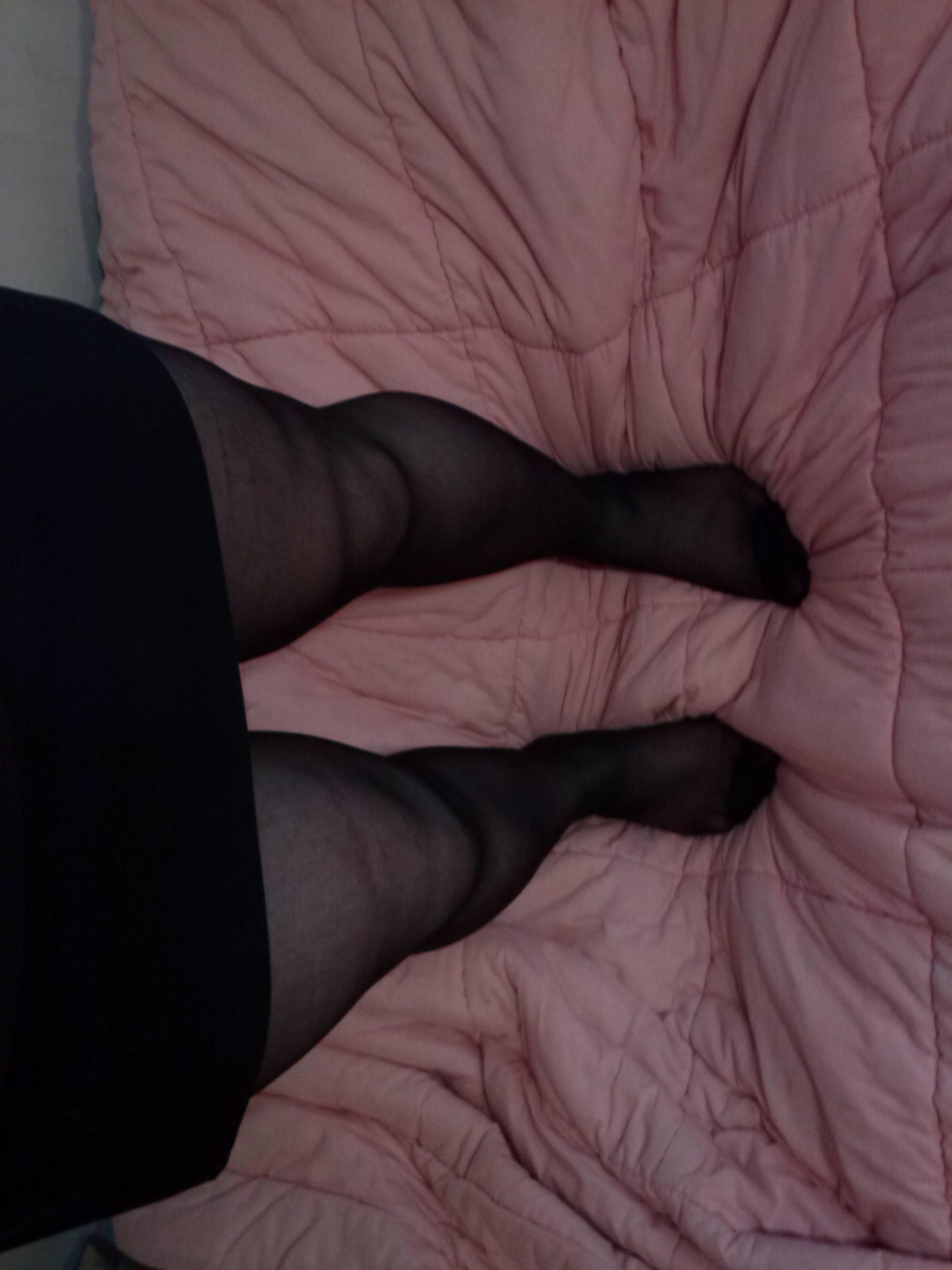 feet, girl, legs, of, stockings