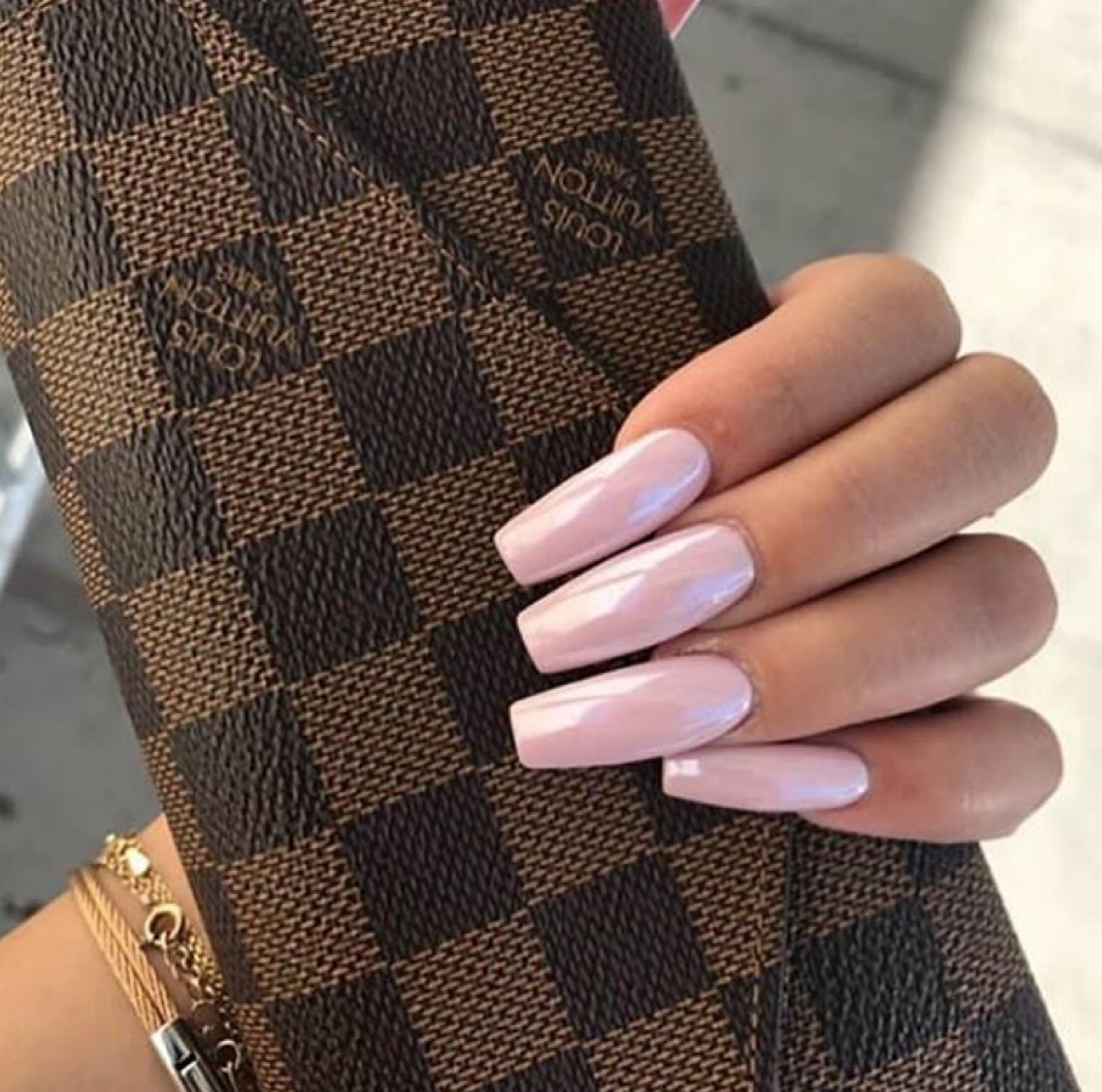 bag, chic, girly, louis vuitton, nails