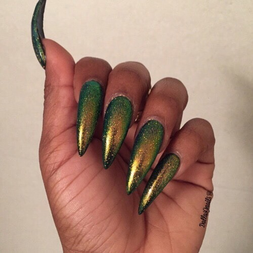 green, khaki, long nails, nails, nails art