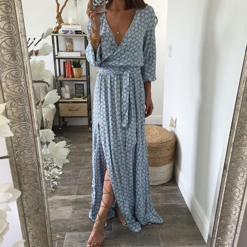 blogger, blue, blue dress, clothes, clothing